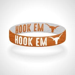 Reversible Texas Hook Em Bracelet Wristband